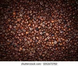 Coffee beans, used as  background