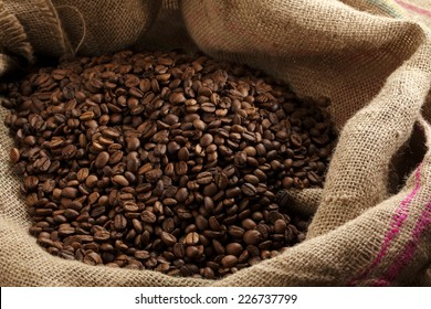 coffee beans/jute canvas with coffee beans