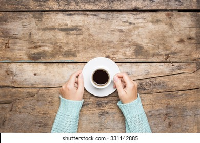 Coffee break background. Stop working drink espresso