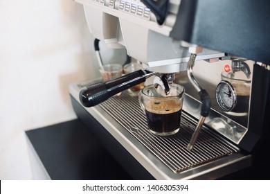 Coffee brew machine with hot americano