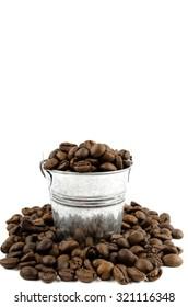 Coffee in a bucket