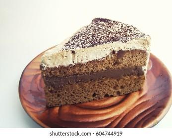 coffee cake plate sweet bekery closeup delicious dessert