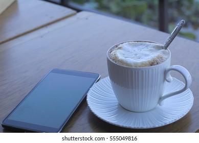 Coffee Cappuccino hot white glass