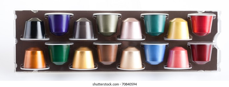 Coffee capsules for a coffee machine