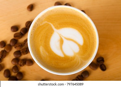 Coffee capuccino with beans