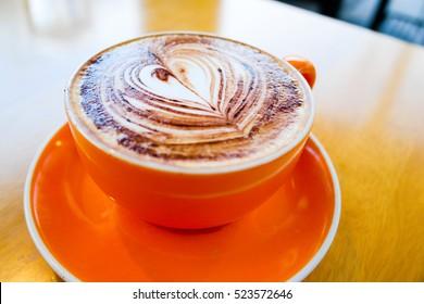 coffee Capuchin chocolate powder on top