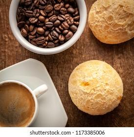 Coffee and cheese bread, brazilian food