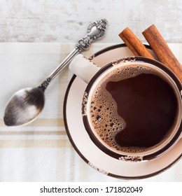 Coffee with cinnamon - square