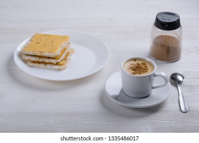 coffee with cinnamon and toast