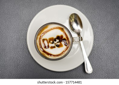 coffee with a clock design