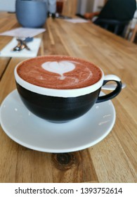 Coffee close up with loveheart