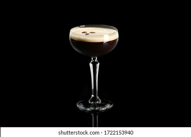coffee cocktail on a black background