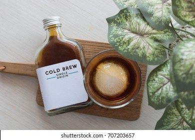 coffee cold brew in bottle