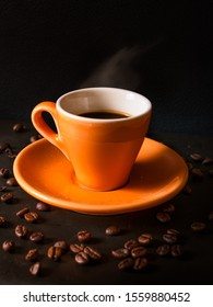 Coffee cup with beans, Italian expresso