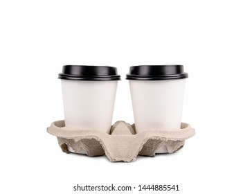 Coffee cup with copy space isolated on white background