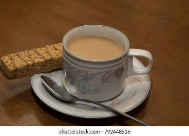 coffee cup desert and spoon red background