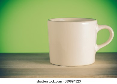 Coffee cup with filter effect retro vintage style