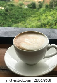 Coffee cup in highland city, BaoLoc- Lamdong- Vietnam