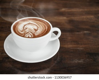 Coffee cup, A cup of hot latte coffee