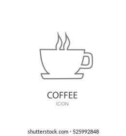 Coffee cup icon. Restaurant concept.