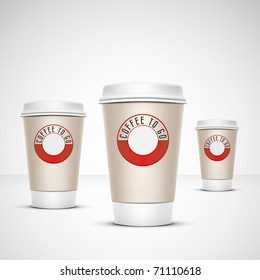 A coffee cup illustration with the words coffee to go