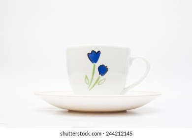 Coffee cup ion white background.
