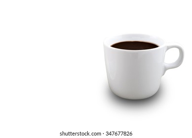 Coffee cup isolated on white background. Clipping Path