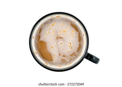 Coffee cup isolated (seen from above)