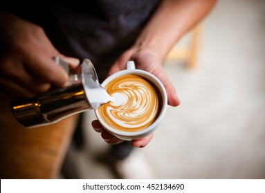 coffee cup latte art