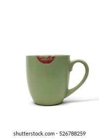 Coffee Cup with Lipstick Mark