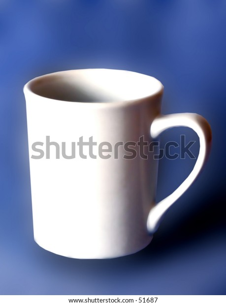 Coffee Cup on Blue