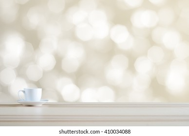 coffee cup on bokeh background