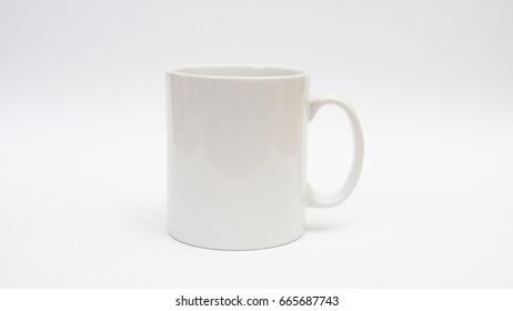 coffee cup on white background.
