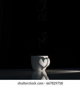 Similar Images, Stock Photos & Vectors of Steaming hot cup of tea on