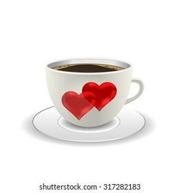 coffee cup with red heart