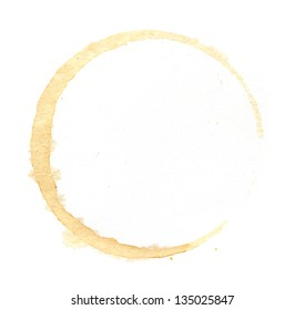 Coffee cup rings isolated on a white background.