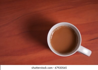 Coffee Cup seen from above.