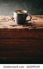 Coffee. Cup of turkish coffee with sugar. Vintage coffee