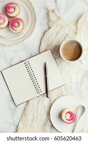 Coffee, cupcakes and journal