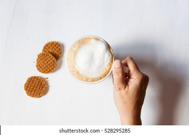 coffee and dutch waffle