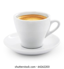 Coffee espresso isolated on white + Clipping Path