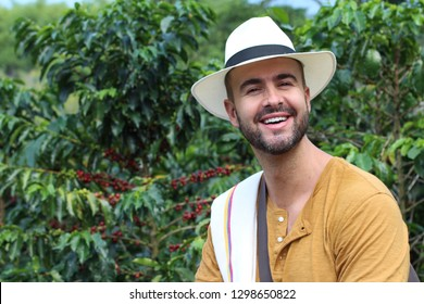 Coffee farmer in the fields