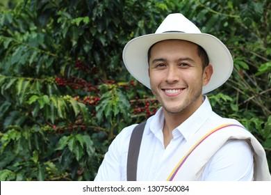 Coffee farmer in the fields