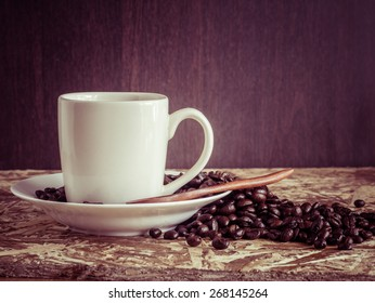 Coffee with filter effect retro vintage style