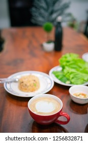 Coffee and food in morning