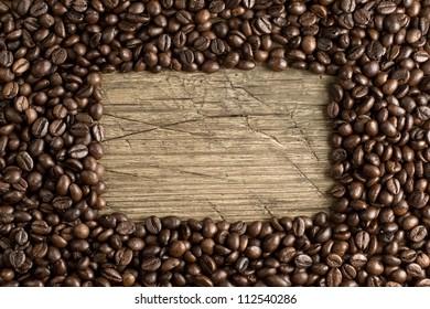 Coffee frame background