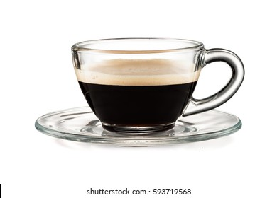 Coffee glass cup isolated on white background with clipping path