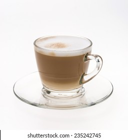 Coffee glass isolated on white background