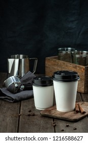 Coffee to go in paper cup