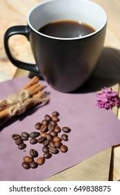 Coffee, grains and cinnamon